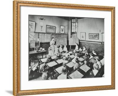 Classroom Scene, Southfields Infants School, Wandsworth, London, 1907--Framed Photographic Print