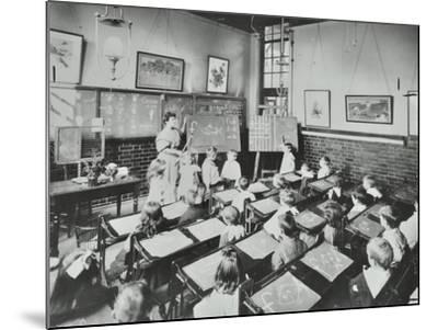 Classroom Scene, Southfields Infants School, Wandsworth, London, 1907--Mounted Photographic Print