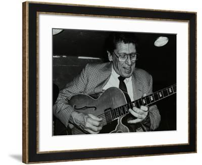 Tal Farlow Playing the Guitar at the Bell, Codicote, Hertfordshire, 18 May 1986-Denis Williams-Framed Photographic Print