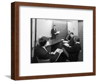 Economics Tutorial, Sheffield University, Sheffield, South Yorkshire, 1967-Michael Walters-Framed Photographic Print