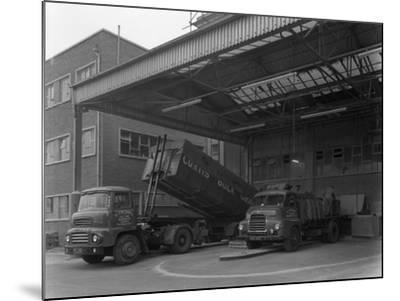 Unloading and Loading Lorries, Spillers Animal Foods, Gainsborough, Lincolnshire, 1961-Michael Walters-Mounted Photographic Print