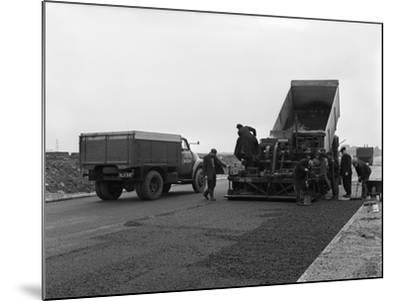 A Bedford A3S Tipper on the Site of Manvers Coal Prep Plant, South Yorkshire, 1955-Michael Walters-Mounted Photographic Print