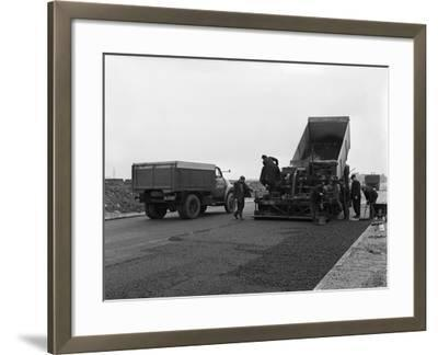 A Bedford A3S Tipper on the Site of Manvers Coal Prep Plant, South Yorkshire, 1955-Michael Walters-Framed Photographic Print