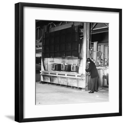 The Small Ingot Furnace, Park Gate Iron and Steel Co, Rotherham, South Yorkshire, 1964-Michael Walters-Framed Photographic Print