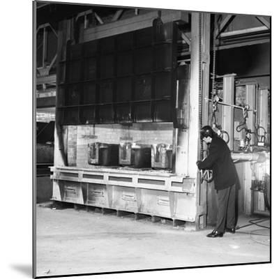 The Small Ingot Furnace, Park Gate Iron and Steel Co, Rotherham, South Yorkshire, 1964-Michael Walters-Mounted Photographic Print