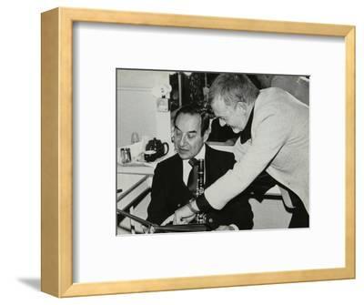 Photographer Denis Williams and Peanuts Hucko, Forum Theatre, Hatfield, Hertfordshire, 1980--Framed Photographic Print