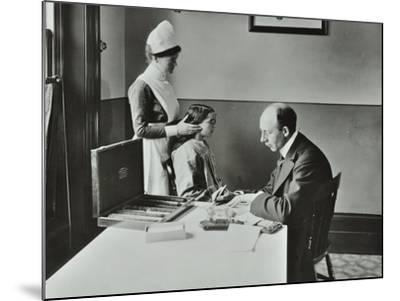 Consulting Room, Norwood School Treatment Centre, London, 1911--Mounted Photographic Print