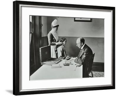 Consulting Room, Norwood School Treatment Centre, London, 1911--Framed Photographic Print