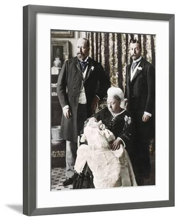 The Future King Edward Viiis Christening Day, 16 July 1894--Framed Photographic Print