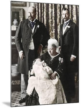 The Future King Edward Viiis Christening Day, 16 July 1894--Mounted Photographic Print