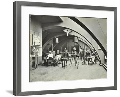 Art Class, Westminster Technical Institute, London, 1910--Framed Photographic Print