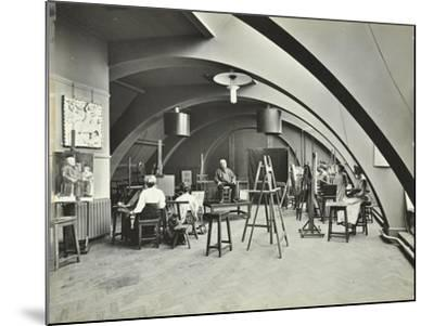 Art Class, Westminster Technical Institute, London, 1910--Mounted Photographic Print