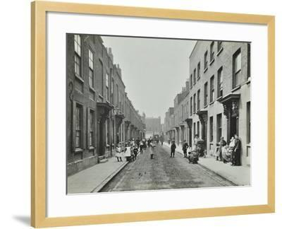 People in the Street, Albury Street, Deptford, London, 1911--Framed Photographic Print