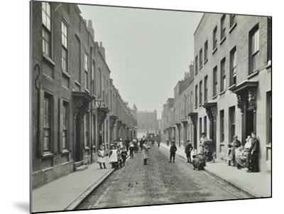People in the Street, Albury Street, Deptford, London, 1911--Mounted Photographic Print