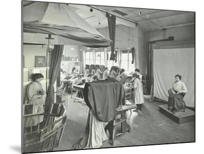 Photography Students at Work, Bloomsbury Trade School for Girls, London, 1911--Mounted Photographic Print