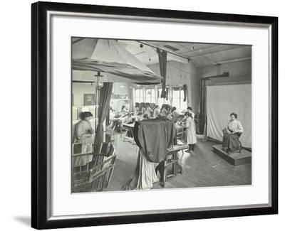 Photography Students at Work, Bloomsbury Trade School for Girls, London, 1911--Framed Photographic Print