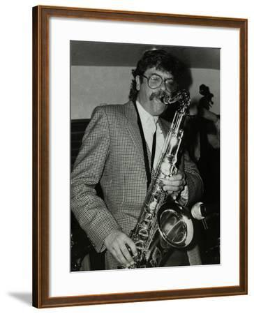 Tenor Saxophonist Alan Skidmore Playing at the Bell, Codicote, Hertfordshire, 16 November 1986-Denis Williams-Framed Photographic Print