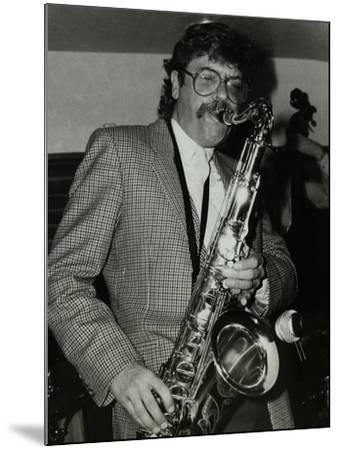 Tenor Saxophonist Alan Skidmore Playing at the Bell, Codicote, Hertfordshire, 16 November 1986-Denis Williams-Mounted Photographic Print