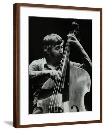 Double Bassist Ron Mathewson Playing at the Forum Theatre, Hatfield, Hertfordshire, 23 January 1982-Denis Williams-Framed Photographic Print