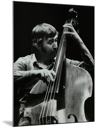 Double Bassist Ron Mathewson Playing at the Forum Theatre, Hatfield, Hertfordshire, 23 January 1982-Denis Williams-Mounted Photographic Print