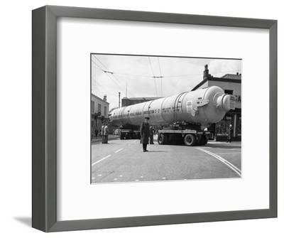 A Heavy Load Stops the Manchester Traffic, 1962-Michael Walters-Framed Photographic Print