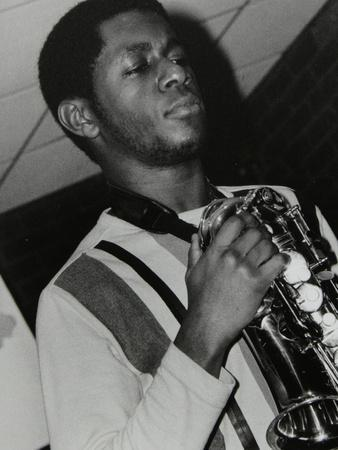 Saxophonist Nathaniel Facey at the Fairway, Welwyn Garden City, Hertfordshire, 25 January 2004-Denis Williams-Framed Photographic Print