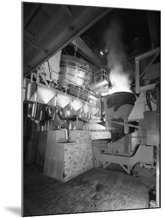 Steel Pour from an Electric Arc Furnace, Park Gate Iron and Steel Co, Rotherham, Yorkshire, 1964-Michael Walters-Mounted Photographic Print