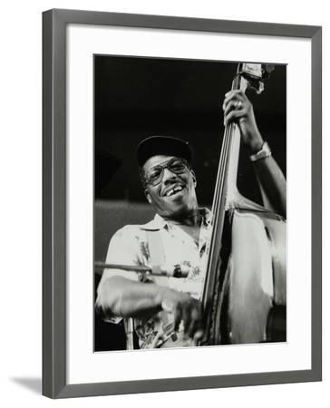 Bassist Major Holley, Beaulieu, Hampshire, July 1977-Denis Williams-Framed Photographic Print