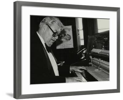 Nat Pierce at the Piano, London, 1984-Denis Williams-Framed Photographic Print
