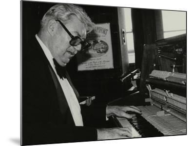 Nat Pierce at the Piano, London, 1984-Denis Williams-Mounted Photographic Print