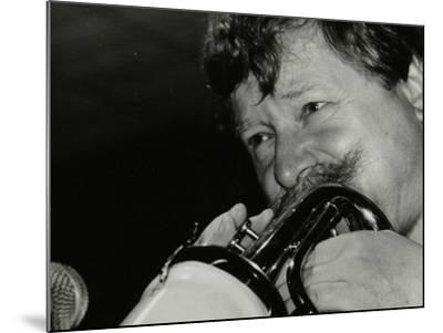 Trumpeter Janusz Carmello Performing at the Fairway, Welwyn Garden City, Hertfordshire, 1991-Denis Williams-Mounted Photographic Print