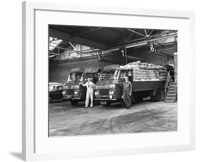 Commer Lorries at Spillers Foods Ltd, Gainsborough, Lincolnshire, 1962-Michael Walters-Framed Photographic Print