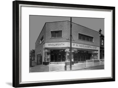 Woolworths Store, Parkgate, Rotherham, South Yorkshire, 1957-Michael Walters-Framed Photographic Print