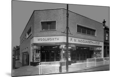 Woolworths Store, Parkgate, Rotherham, South Yorkshire, 1957-Michael Walters-Mounted Photographic Print