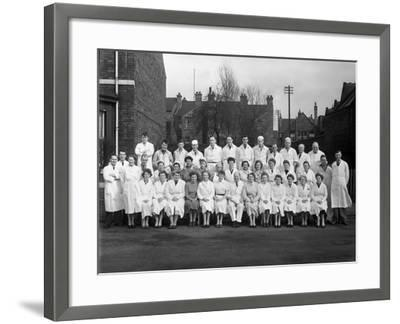 Staff from Schonhuts Butchery Factory, Rawmarsh, South Yorkshire, 1955-Michael Walters-Framed Photographic Print