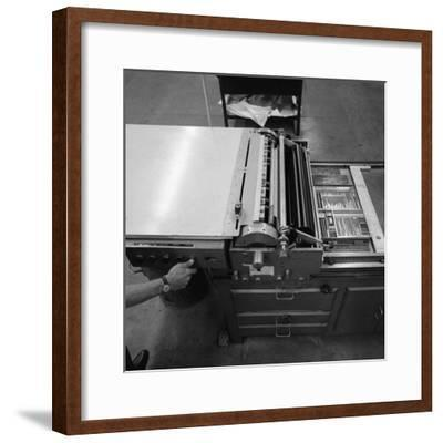 A Proofing Press with Plates at the White Rose Press, Mexborough, South Yorkshire, 1968-Michael Walters-Framed Photographic Print