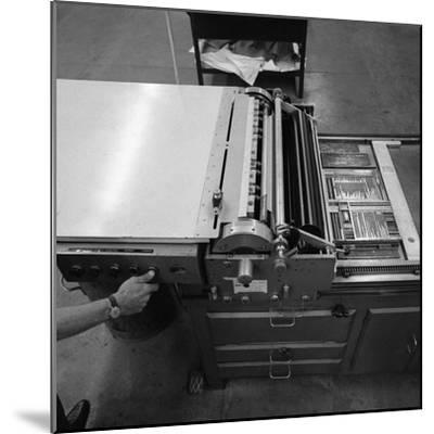 A Proofing Press with Plates at the White Rose Press, Mexborough, South Yorkshire, 1968-Michael Walters-Mounted Photographic Print