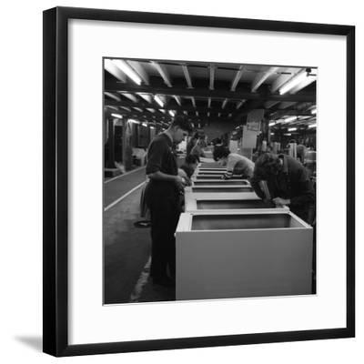 Fridge Assembly Line at the General Electric Company, Swinton, South Yorkshire, 1964-Michael Walters-Framed Photographic Print