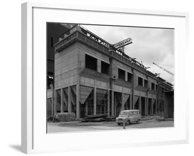 Bedford Ca Minibus Parked on a Building Site in West Burton, Nottinghamshire, 1964-Michael Walters-Framed Photographic Print