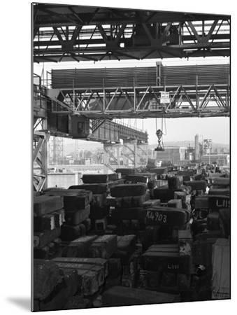 Eectromagnet Above Steel Ingots, Park Gate Iron and Steel Co, Rotherham, South Yorkshire, 1964-Michael Walters-Mounted Photographic Print