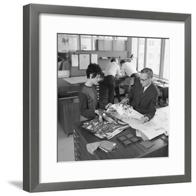 Architects Department at Tetleys Brewers, Leeds, West Yorkshire, 1968-Michael Walters-Framed Photographic Print