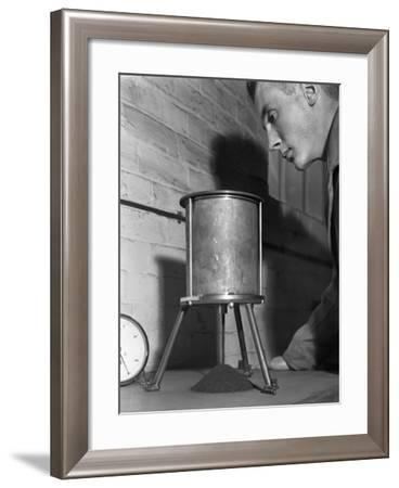 A Lab Technician Undertaking a Coal Flow Test, Mapperley Colliery, Derbyshire, 1962-Michael Walters-Framed Photographic Print