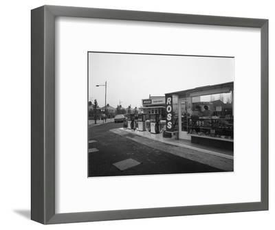 A Petrol Station Forecourt, Grimsby, Lincolnshire, 1965-Michael Walters-Framed Photographic Print