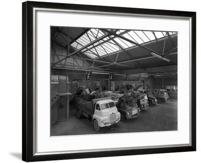 Line Up of 1950S Lorries at Spillers Animal Foods, Gainsborough, Lincolnshire, 1961-Michael Walters-Framed Photographic Print