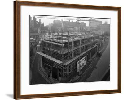 Commercial Development on Campo Lane, Sheffield, South Yorkshire, 1968-Michael Walters-Framed Photographic Print