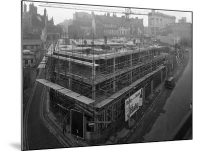 Commercial Development on Campo Lane, Sheffield, South Yorkshire, 1968-Michael Walters-Mounted Photographic Print