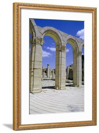 South-East Baths, Maktar, Tunisia-Vivienne Sharp-Framed Photographic Print