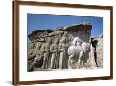 Relief of Shapur I, Naqsh-I-Rustam, Iran-Vivienne Sharp-Framed Photographic Print