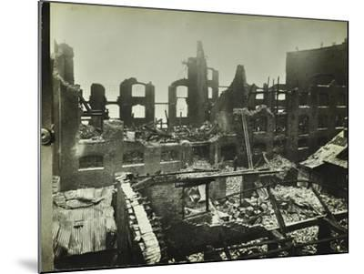 Burnt-Out Building, Concordia Wharf, Poplar, London, 1924--Mounted Photographic Print