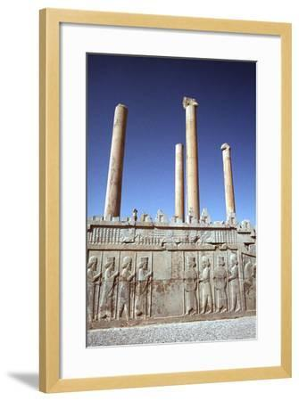 Relief of Medes and Persians, the Apadana, Persepolis, Iran-Vivienne Sharp-Framed Photographic Print